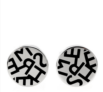 hermes(爱马仕) 黑色字体logo耳饰